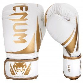 Challenger 2.0 Boxing Gloves - White/Gold