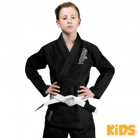 Contender Kids BJJ Gi - Black (White belt included)