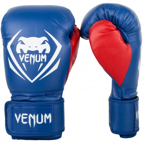 Contender Boxing Gloves - Blue/Red-White