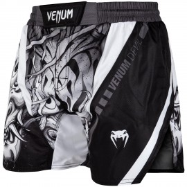 Devil Fightshorts - White/Black
