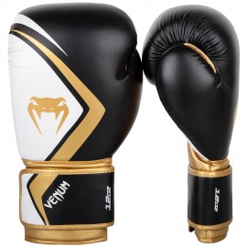 Contender 2.0 Boxing Gloves - Black/White-Gold