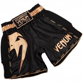 Giant Muay Thai Shorts - Black/Gold