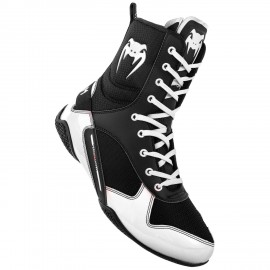 Elite Boxing Shoes - Black/White