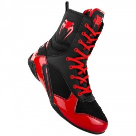 Elite Boxing Shoes - Black/Red