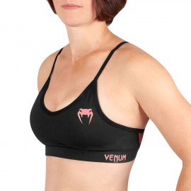 Tecmo Sports Bra - Black/Pink