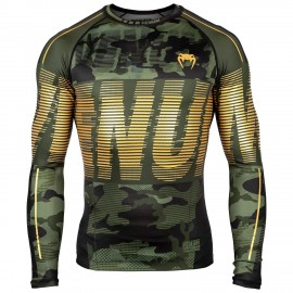 Tactical Rashguard Longsleeves - Forest Camo/Black