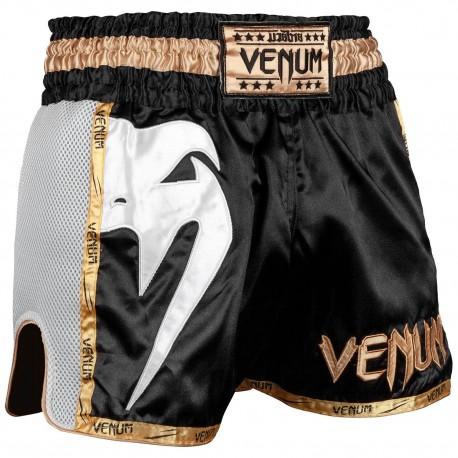 Giant Muay Thai Shorts - Black/White/Gold