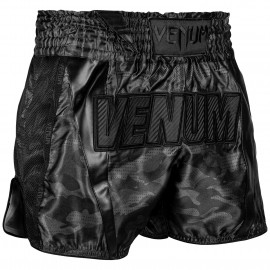 Full Cam Muay Thai Shorts - Urban Camo Black/Black