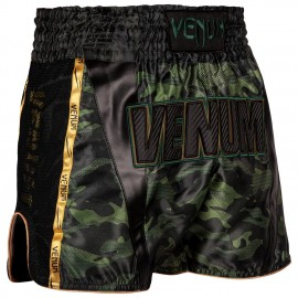 Full Cam Muay Thai Shorts - Urban Camo / Khaki Black