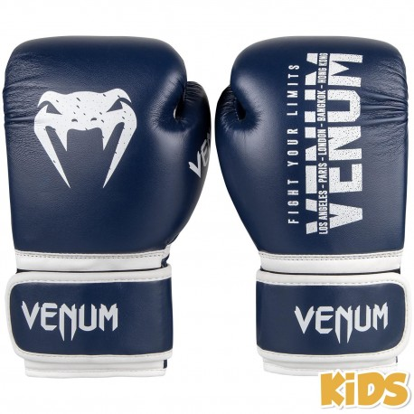 Signature Kids Boxing Gloves - Navy Blue 6oz