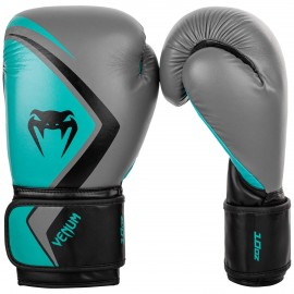 Contender 2.0 Boxing Gloves - Grey / Turquoise
