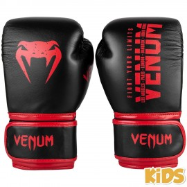 Signature Kids Boxing Gloves - Black/Red 6oz