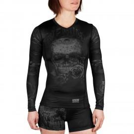 Santa Muerte 3.0 Rashguard Long Sleeves - Black/Black