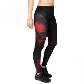 Santa Muerte 3.0 Rashguard Leggings For Women - Black/Red