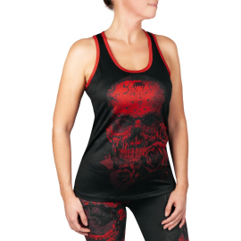 Santa Muerte 3.0 Tank Top for Women - Black/Red