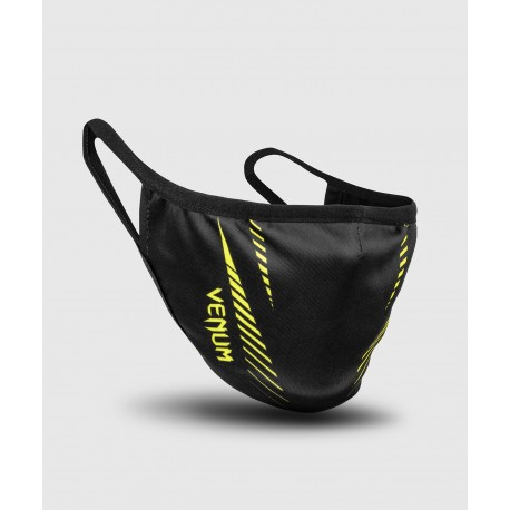 Pro Team Face Mask-Black/Neo Yellow