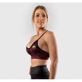 Defender Sports Bra - Black/Red