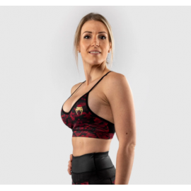 Defender Sports Bra - Black/Red