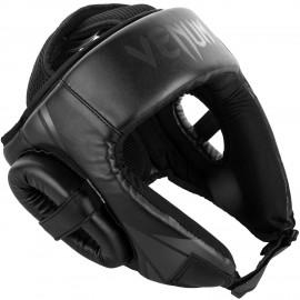 Challenger Open Face Headgear - Black/Black