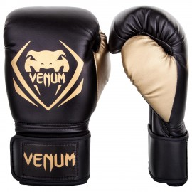 Contender Boxing Gloves - Black/Gold